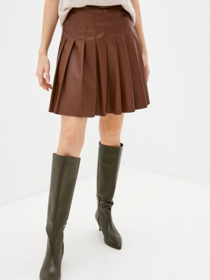 Кожаная юбка - коричневая Rich&royal