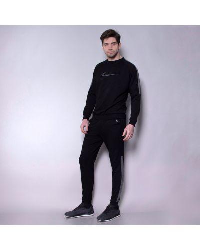 Повседневный черный спортивный костюм в рубчик Teamv