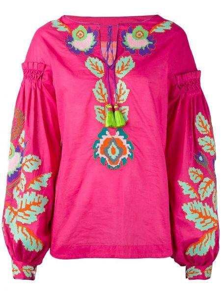 Блузка розовая с пышными рукавами Yuliya Magdych