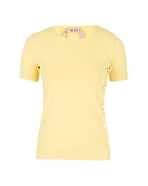 Футбольная желтая футболка No.21