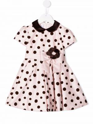 Różowa sukienka z printem Colorichiari
