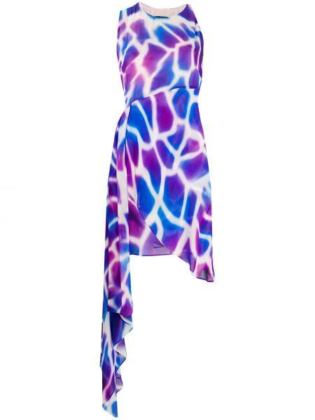 Плиссированное платье - синее Just Cavalli
