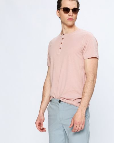 Розовая футболка однотонная Brave Soul