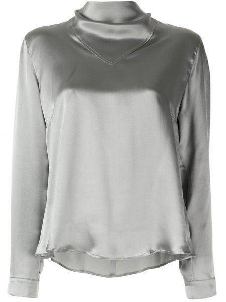 Блузка с длинным рукавом в полоску батник Le Kasha