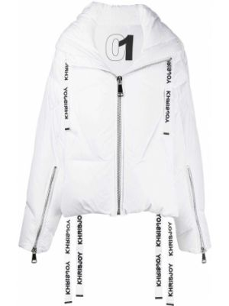 Белая свободная куртка с манжетами на молнии Khrisjoy