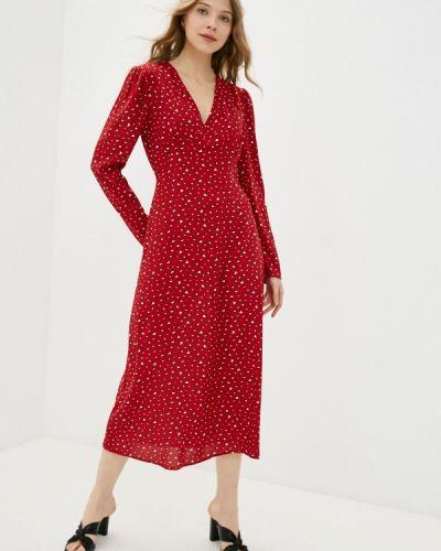 Прямое красное платье А-силуэта Imocean