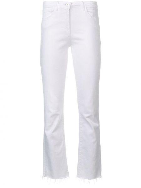 С завышенной талией белые джинсы-скинни на молнии 3x1