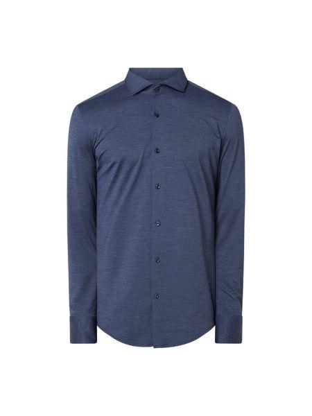 Niebieski koszula z mankietami z długimi rękawami Boss