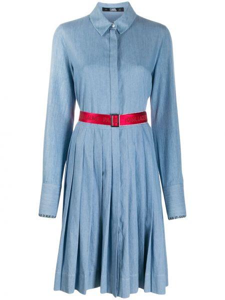 Платье миди классическое с поясом Karl Lagerfeld
