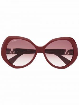 Солнцезащитные очки металлические - красные Max Mara