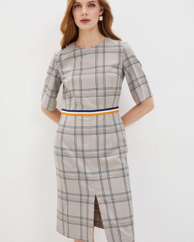 Серое платье-футляр Baon