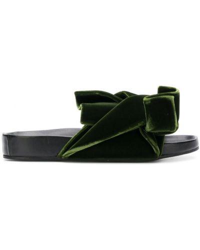 Сандалии зеленый с бантом N21