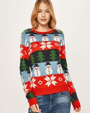 Sweter z wzorem akrylowy Vila
