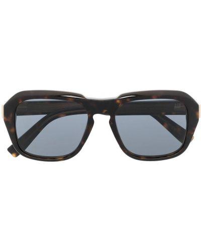 Złote czarne okulary oversize Dunhill