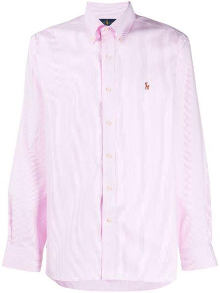 Koszula z długim rękawem prosto różowy Ralph Lauren