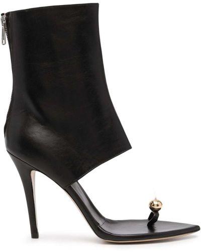 Черные ботинки на каблуке Natasha Zinko