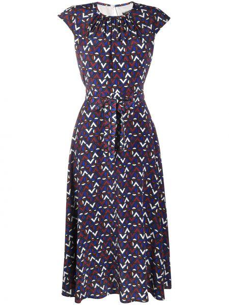 Синее шелковое платье Weekend Max Mara