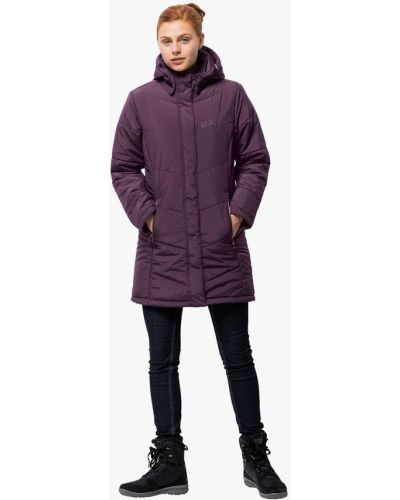 Утепленная куртка осенняя бордовый Jack Wolfskin