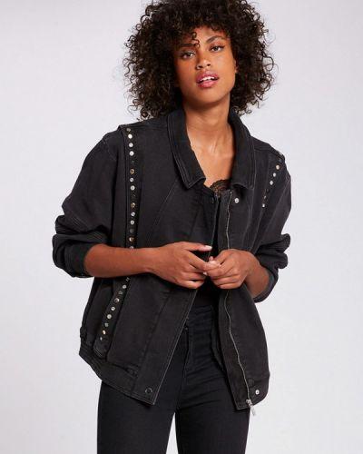 Черная джинсовая куртка Morgan