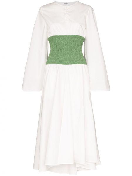 Платье со складками с воротником Loewe