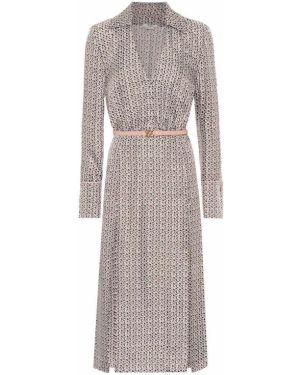 Платье миди платье-рубашка шелковое Fendi