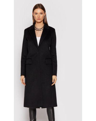 Płaszcz wełniany - czarny Hugo