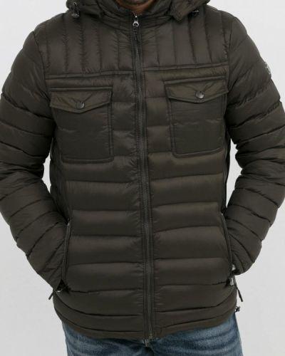 Утепленная куртка демисезонная зеленая Jan Steen