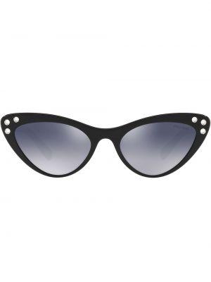 Муслиновые черные солнцезащитные очки Miu Miu Eyewear