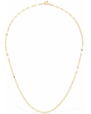 Żółty złoty naszyjnik z diamentem Lil