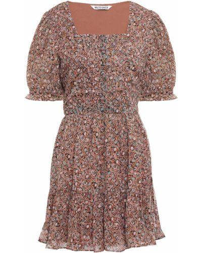Текстильное платье мини с подкладкой с манжетами Walter Baker