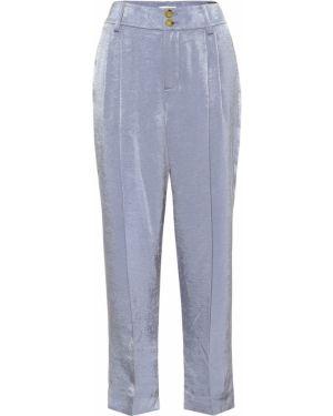 Укороченные брюки синие костюмные Vince.