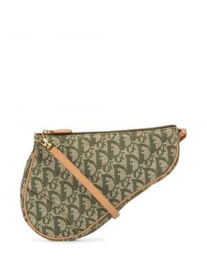 Кожаная коричневая сумка на плечо винтажная Christian Dior