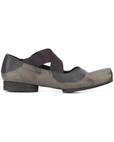 Серые балетки кожаные Uma Wang