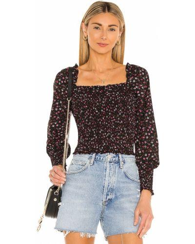 Мерцающая текстильная черная блузка 1. State