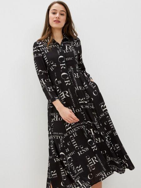 Платье платье-рубашка черное Rinascimento