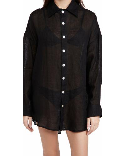 Льняное платье - черное Vitamin A