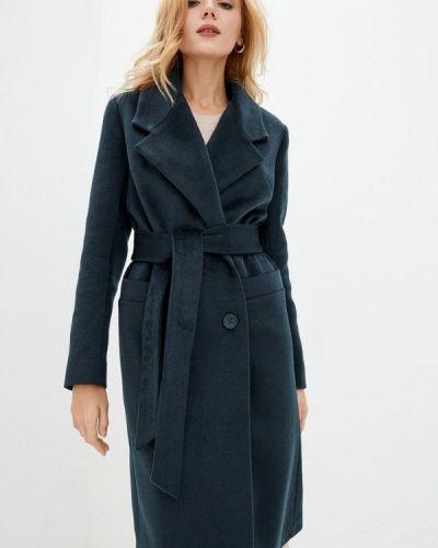 Бирюзовое пальто двубортное Danna