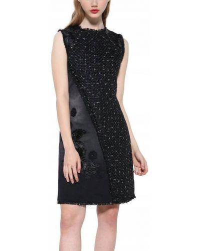 Czarny sukienka z cekinami okrągły Desigual