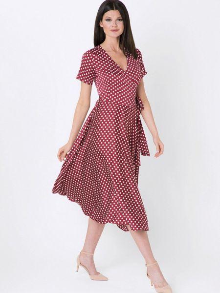 Повседневное платье бордовый осеннее A.karina
