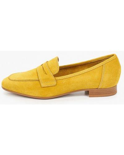 Желтые лоферы Pazolini