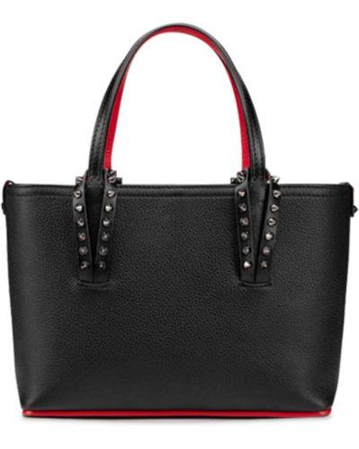 Кожаная маленькая сумка с карманами Christian Louboutin