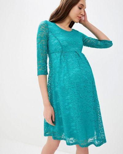 Вечернее платье - бирюзовое очаровательная адель