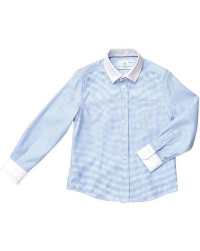 Рубашка в клетку хлопковая Yudashkin Kids