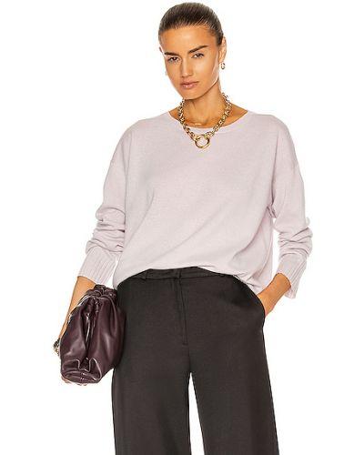 Фиолетовый кашемировый свитер милитари Nili Lotan