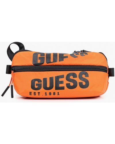 Оранжевая поясная сумка Guess