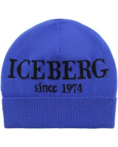 Шапка кашемировая с принтом Iceberg