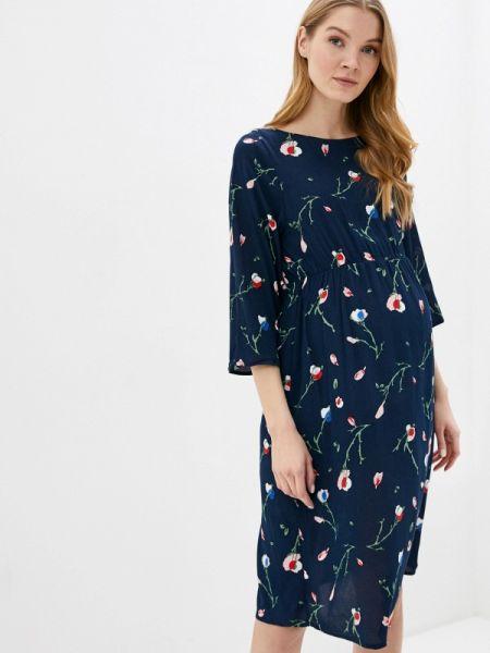 Платье для беременных синее весеннее Mama.licious