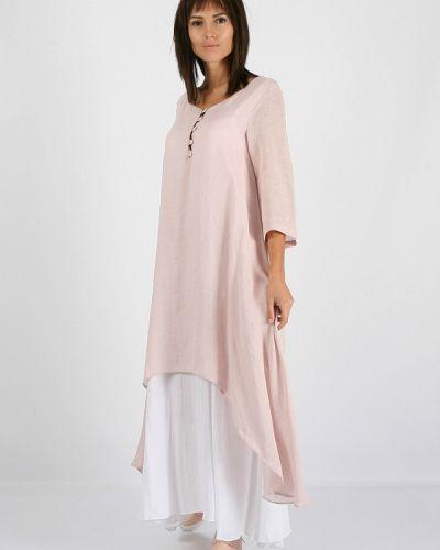 Прямое розовое платье Morandi