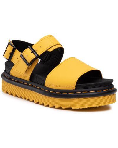 Żółte sandały Dr. Martens
