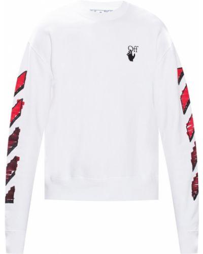 Prążkowana biała bluza Off-white